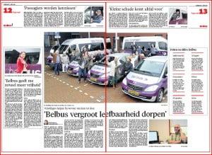 Artikel Belbus NHD zaterdag 8 juni 2013